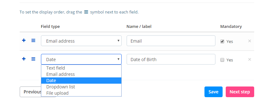 Registration form - how to collect attendee data