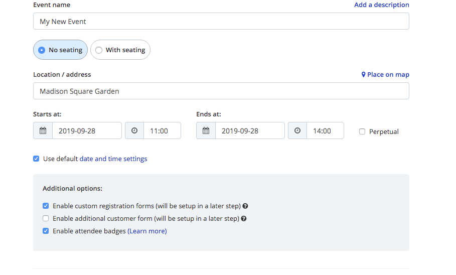 activating registrations form and badges from Oveit dashboard