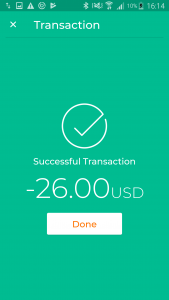 transaction confirmation in cashless payment system
