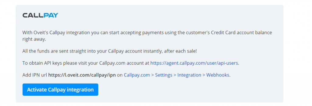 activate-callpay-integration