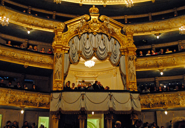 Tsar's lodge at Mariinsky Theater, St. Petersburg.
