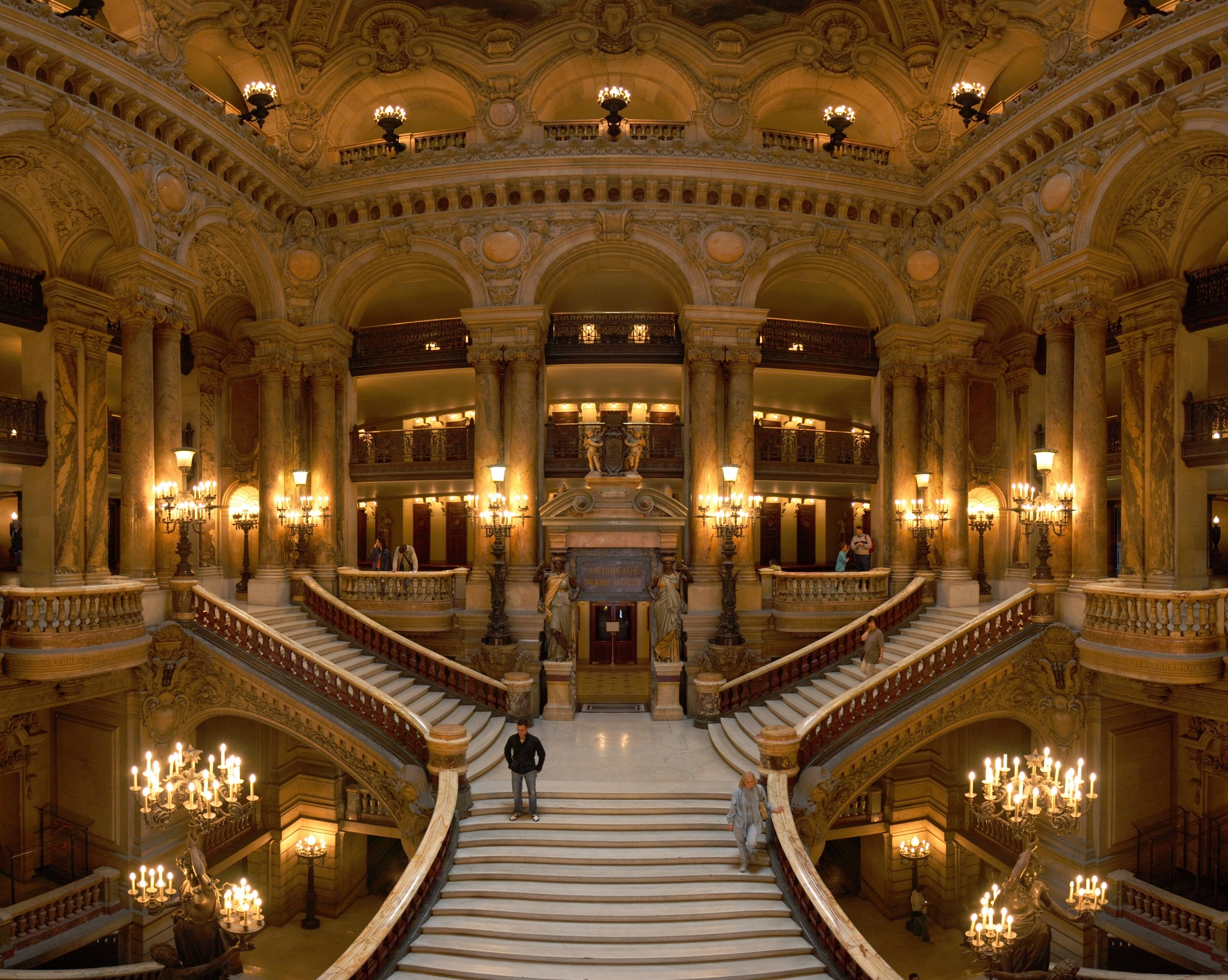 Picture of the main stairway, Opera Garnier.