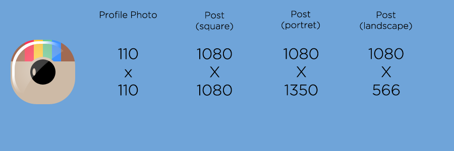 photo dimensions for Instagram