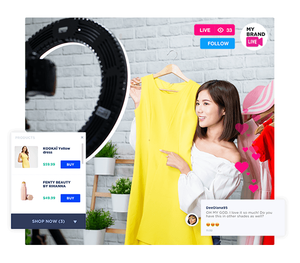 live shopping in virtual events