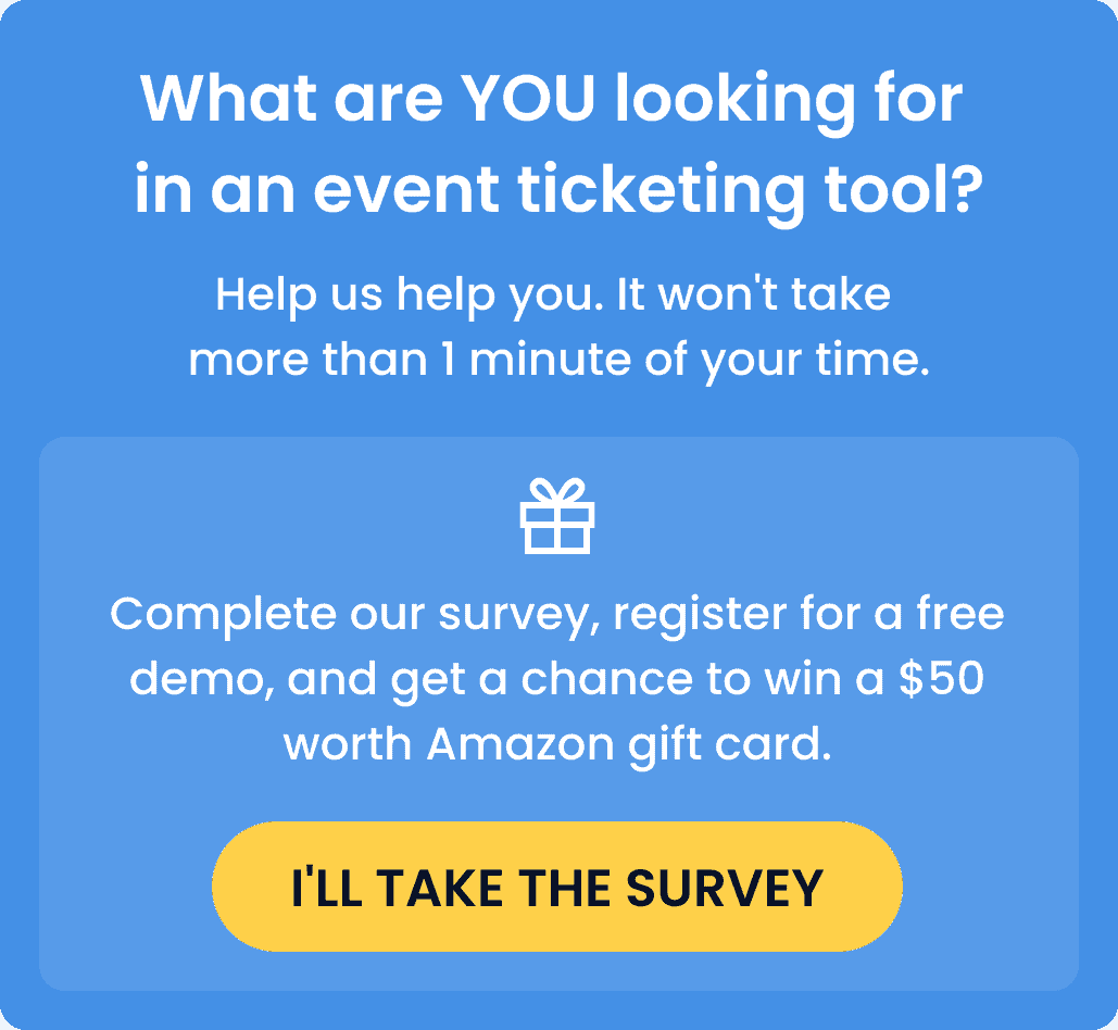 banner survey event ticketing software mobile